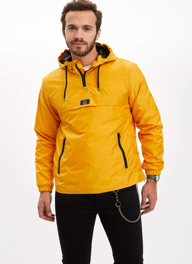 DeFacto Kapüşonlu Mont Sarı